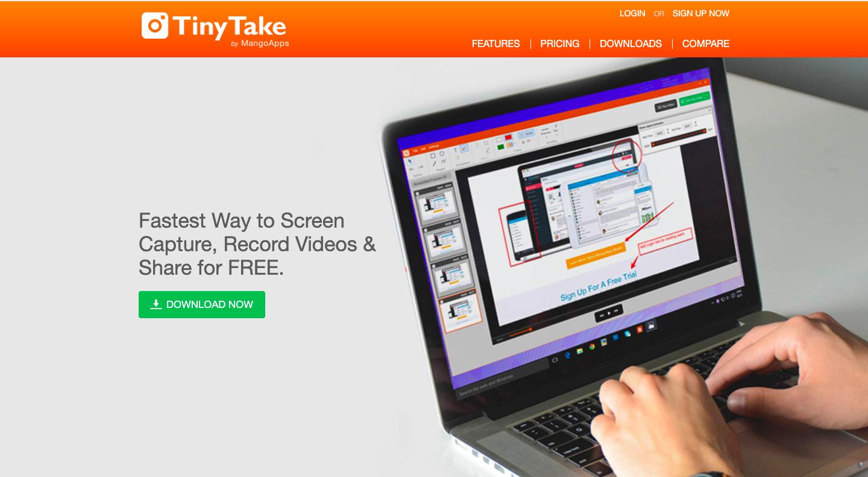 TinyTake screen recorder