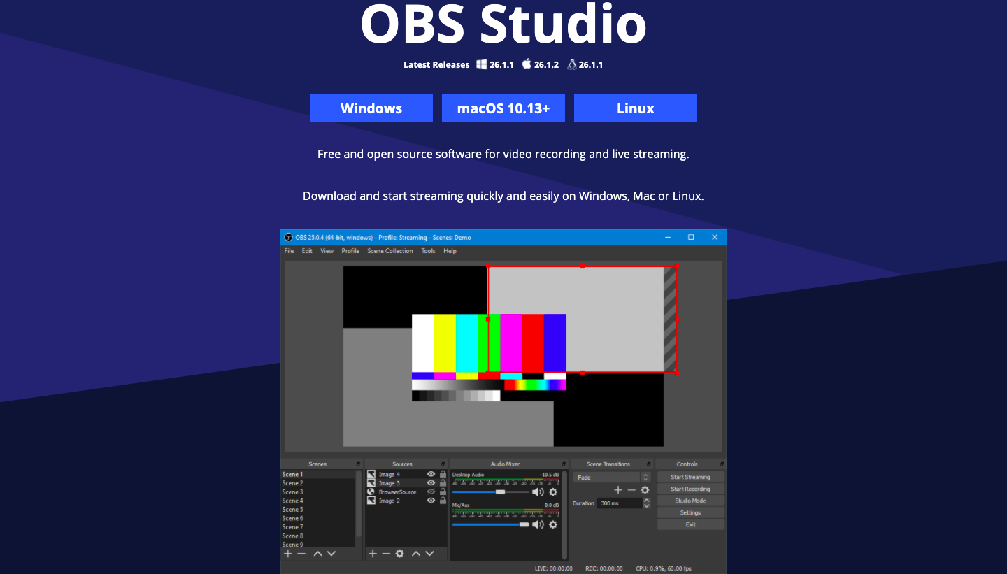 OBS Project screencast software