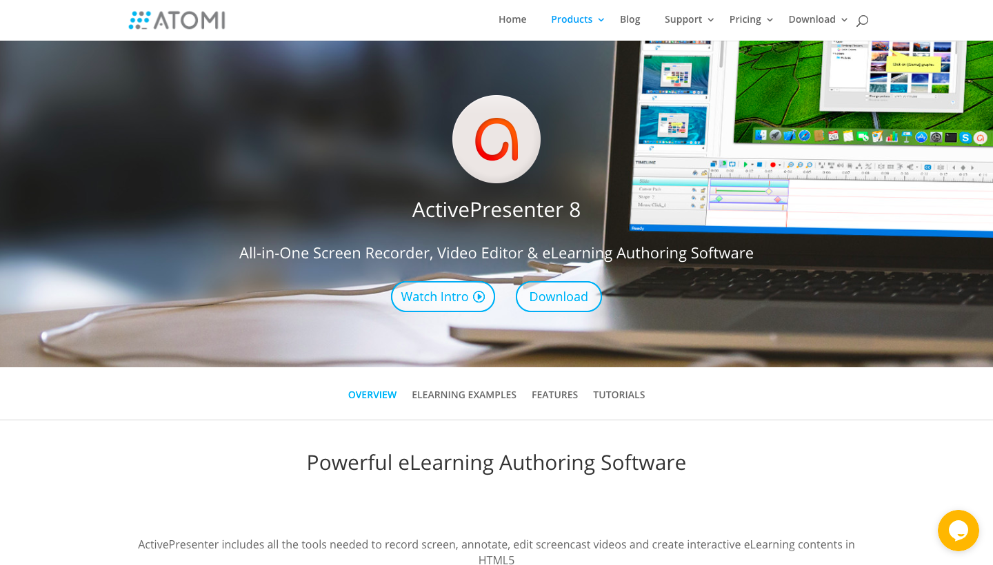 Active presenter screencast software