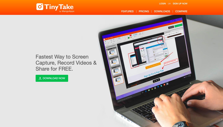 TinyTake watermark free screen recorders