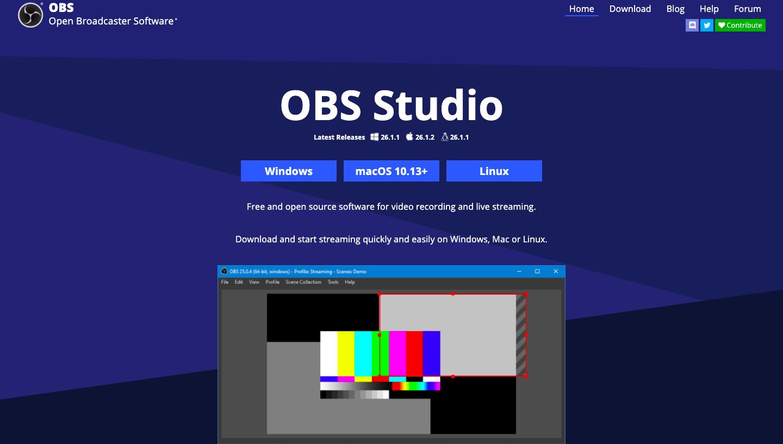 OBS Studio watermark free screen recorders