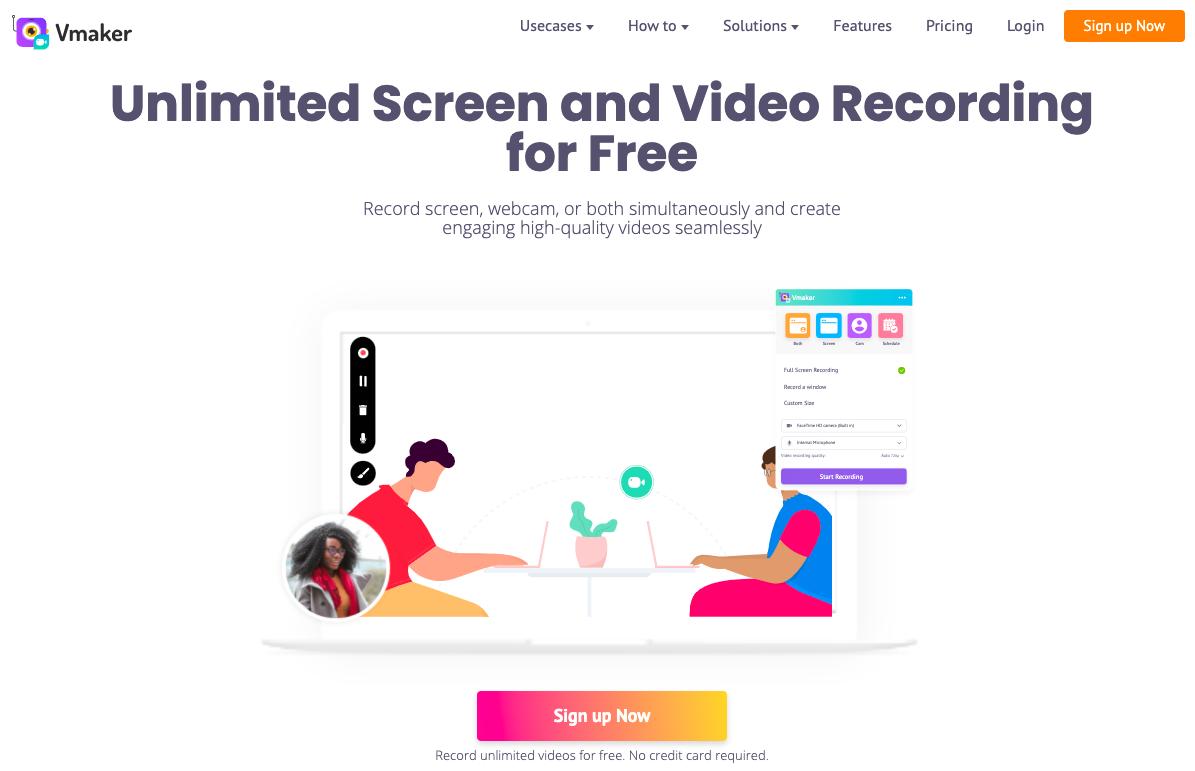Vmaker unlimited watermark free screen recorders