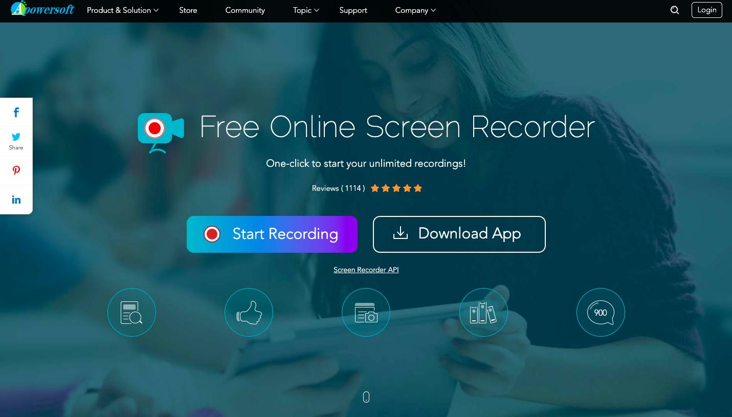 Apowersoft watermark free screen recorders