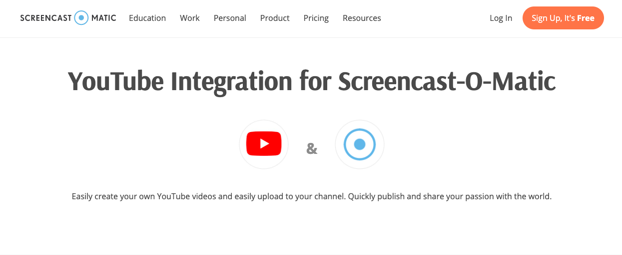 Screencastomatic YouTube Screen Recorder