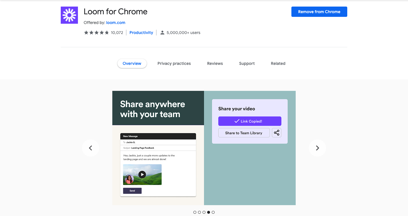 Loom screen recorder chrome extension
