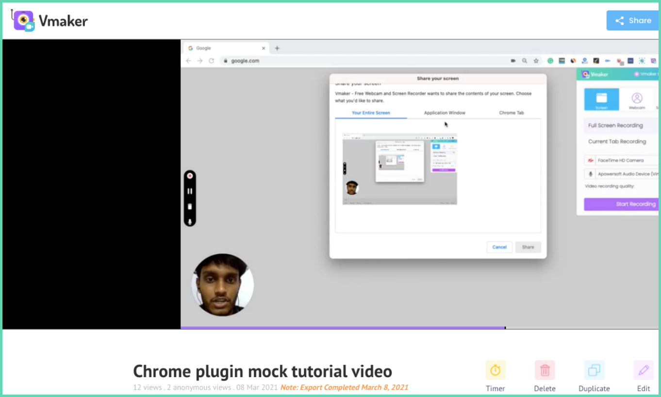Tutorial video mock recording
