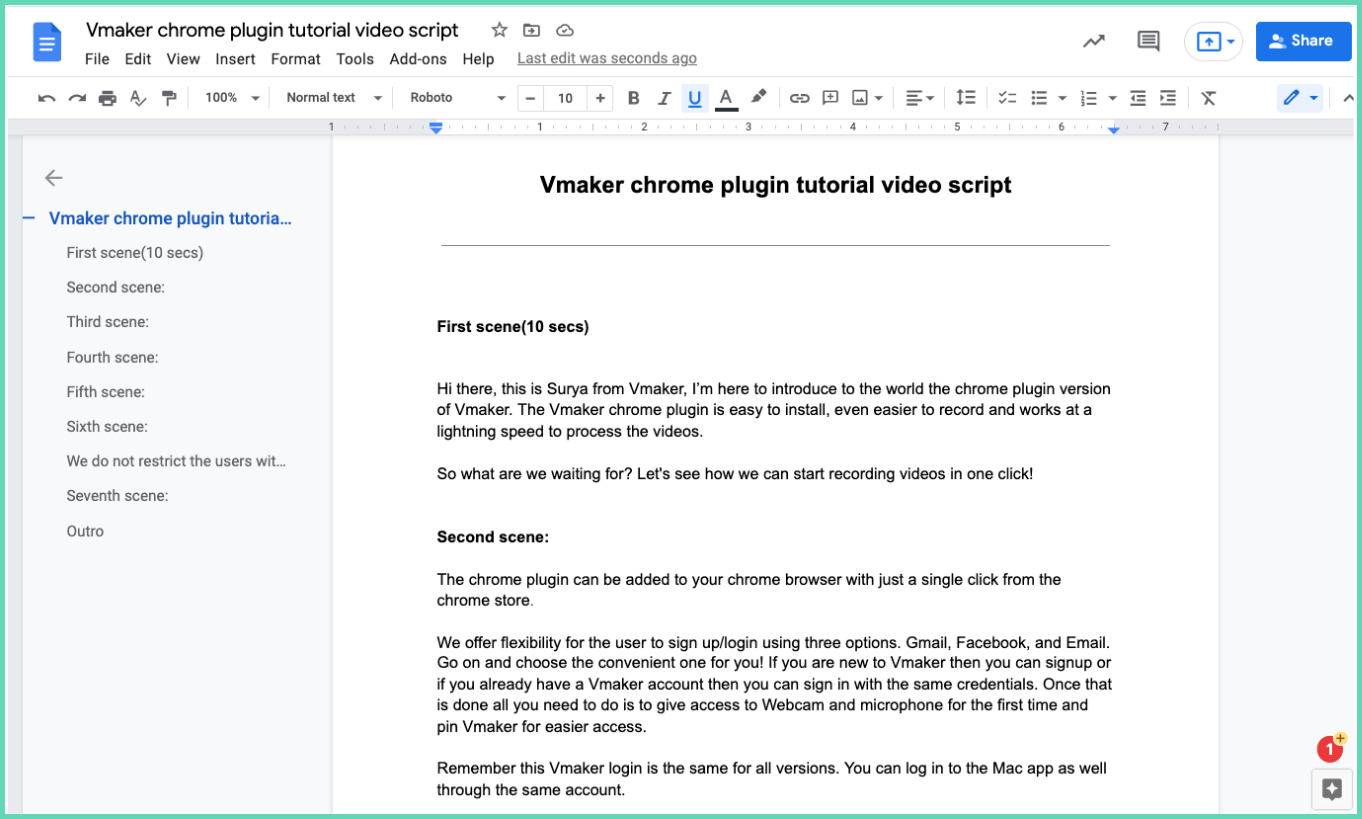 Sample tutorial video script to help you create tutorial video by recording your screen